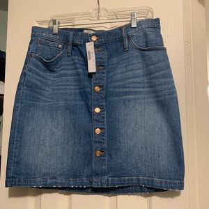 J Crew Button Front Skirt NWT